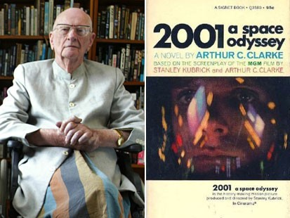 Arthur Clarke and 2001 cover
