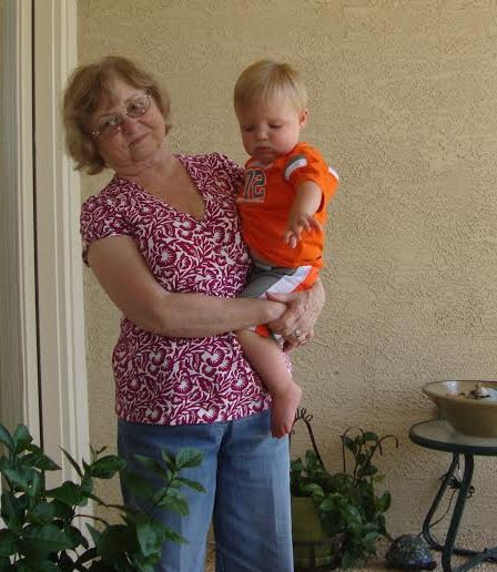 Nana and grandson Cole