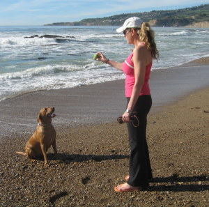 Jennifer & Fergie at the Trump Dog Beach